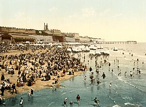 The sands, Ramsgate, Kent, England, ca. 1899