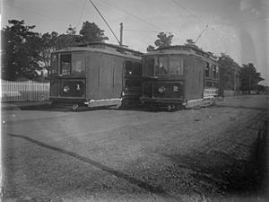 Two Victorian Railway trams