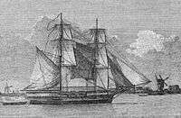Woodcut of Lady Nelson brig