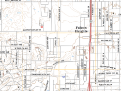 Falcon Heights on The National Map