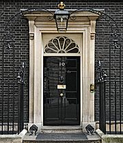2010 Official Downing Street pic - cropped to door arch