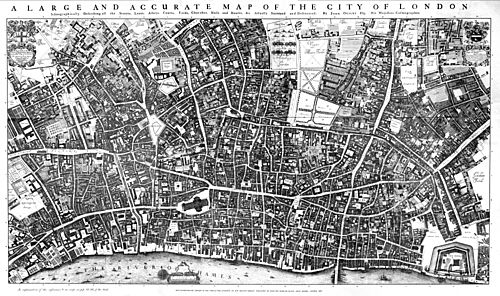 City of London Ogilby and Morgan's Map of 1677