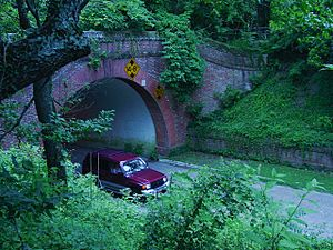 Colonial Parkway tunnel in Colonial Williamsburg