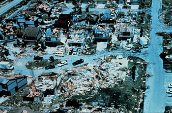 Destruction following hurricane andrew