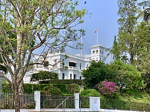 Government House seen from street, Brisbane, Queensland, 2019, 02