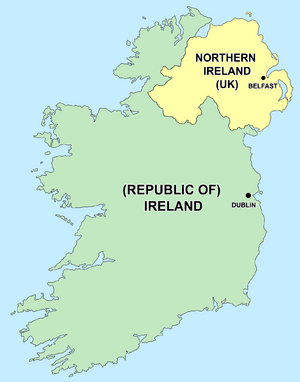 Kids Map Of Ireland.Partition Of Ireland Facts For Kids