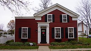 Maumee OH - Greek Revival Townhouse - Built in 1840's - Originally located on Wayne and Gibbs Street in Maumee - Donated by Mr and Mrs Charles Reynolds 02