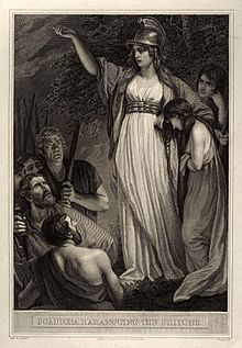 Boadicea Haranguing the Britons (called Boudicca, or Boadicea) by John Opie