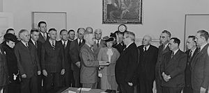 Harry S. Truman taking the oath of office