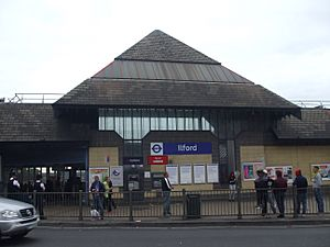 Ilford station building 2015
