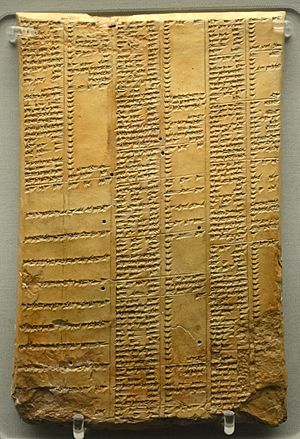 Library of Ashurbanipal synonym list tablet