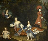 Marquise de Montespan and children