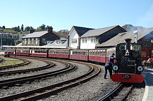 Porthmadog - Blanche at Harbour Station