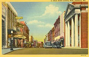 Salisbury main street post card