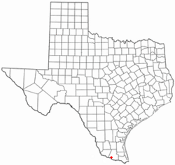 Location of Palmview, Texas