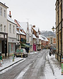 The Square after snow, Winchester - geograph.org.uk - 1146180