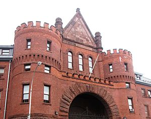 23rd Regiment Armory entrance archway from south