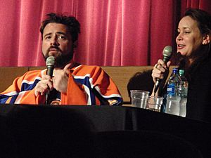 Kevin Smith and Jennifer Schwalbach in 2011