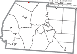Location of Clarksburg in Ross County