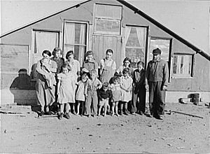 Mennonite family in Montana 1937