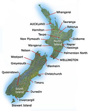 New Zealand towns and cities