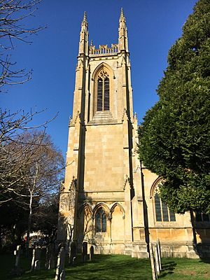 St Peter ad Vincula Church Hampton Lucy tower s elv Feb 2020