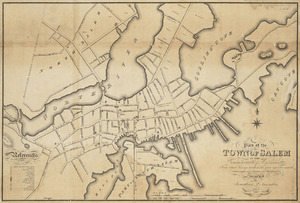 1820 Salem Massachusetts map bySaunders BPL 12094