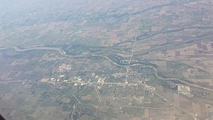 Columbus Nebraska aerial view