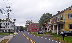 Downtown Napanoch, 2007, with Hoornbeek Store Complex on right