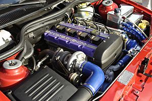 Escort Cosworth engine bay