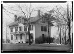 HISTORIC AMERICAN BUILDINGS SURVEY EDWARD F. PERRY - PHOTOGRAPHER - MAR. 30, 1934. EAST and NORTH ELEVATION - Swinney House, Swinney Park and Jefferson Street, Fort Wayne, Allen HABS IND,2-FOWA,1-2.tif
