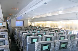 Japan Airlines 747-400 Economy cabin