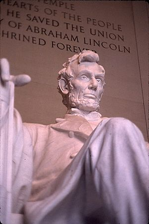 "Lincoln Monument, ""He saved the Union"" 1920"