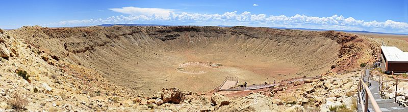 Meteor Crater Panorama near Winslow, Arizona, 2012 07 11