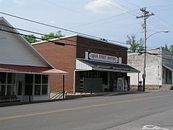 Stores along Main Street
