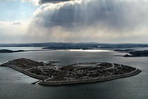 Spectacle Island in Boston Harbor