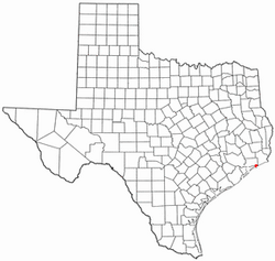 Location of High Island, Texas