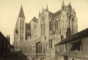 Truro Cathedral in 1905, before completion of its spire