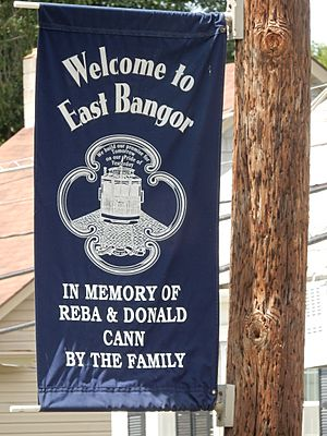 Welcome Sign in East Bangor, PA