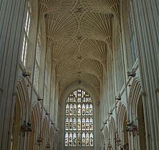 Bath Abbey Fan Vaulting - July 2006 crop