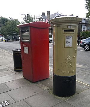 Gold post box Enfield Charlotte Dujardin