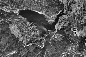 Lake Siskiyou satellite view