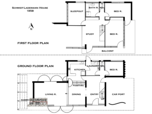 Schmidt-Lademann house floor plan