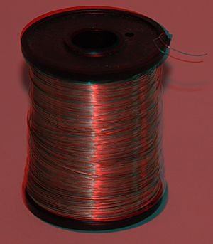 Tinned Copper Wire anaglyph