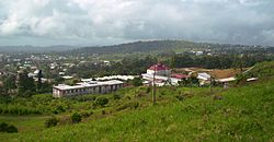 The capital Buea from the foot of Mount Cameroon
