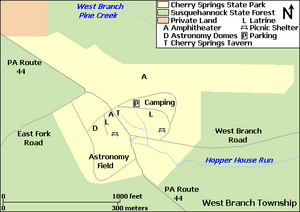 Cherry Springs State Park Map