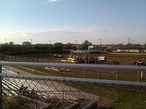 Eagle Raceway Eagle NE Turn One Grandstands
