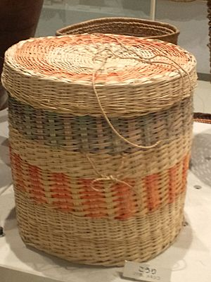 Little world, Aichi prefecture - Main exhibition hall - Woven basket - Maya people in Mexico