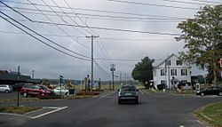 Center of the township — The municipal building is in the foreground