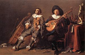 The Duet c1635 by Saftleven